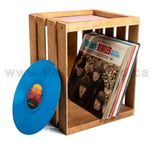 Vinyl Records Wood Storage Crates